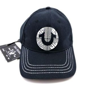 NEW! True Religion Black Silver Logo Hat